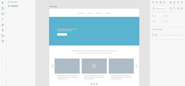 Wireframe Adobe XD lean canvas gestion de projet créer une application responsive cahier des charges