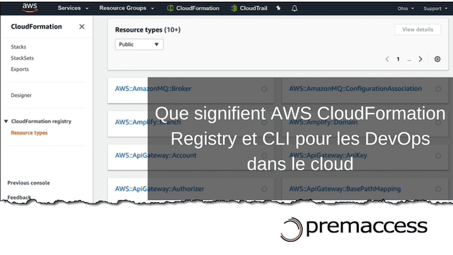 AWS cloudformation registry et cli Infrastructure as Code amazon AWS